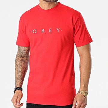 Obey - Tee Shirt Novel Rouge