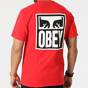 Obey - Tee Shirt Eyes Icon 2 Rouge
