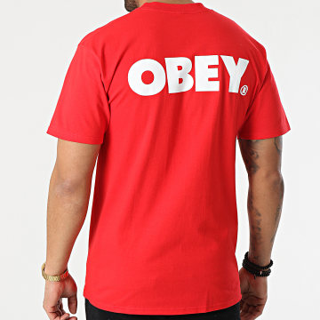 Obey - Tee Shirt Bold Rouge