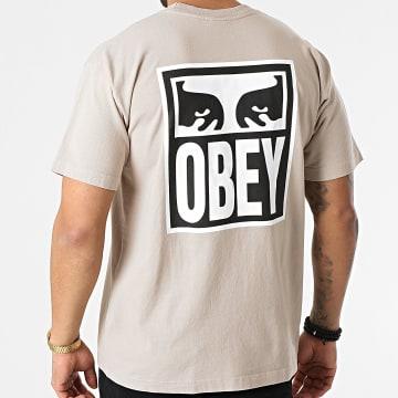 Obey - Tee Shirt Eyes Icon 2 Beige