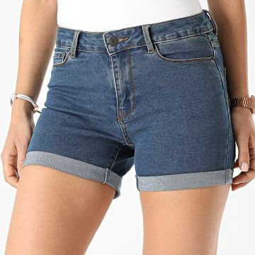 Vero Moda - Short Jean Slim Femme Hot Seven Bleu Denim