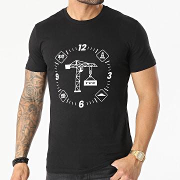 13 Block - Tee Shirt Grue Noir Blanc
