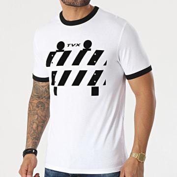 13 Block - Tee Shirt Ringer TVX Blanc Noir