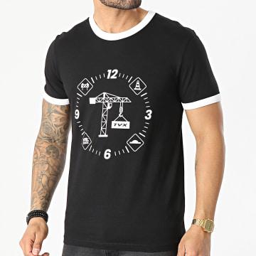 13 Block - Tee Shirt Ringer Grue Noir Blanc