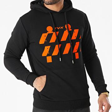 13 Block - Sweat Capuche TVX Noir Orange
