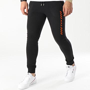 13 Block - Pantalon Jogging TVX Noir Orange