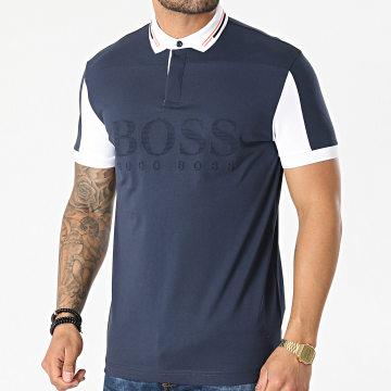 BOSS - Polo Manches Courtes Pavel 50452528 Bleu Marine