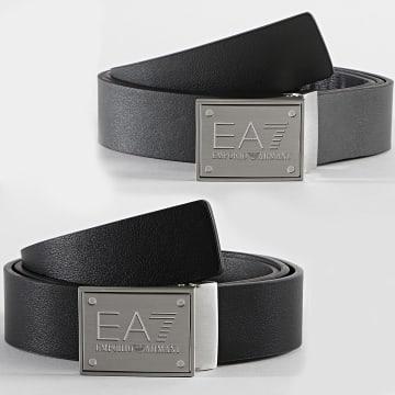 EA7 Emporio Armani - Ceinture Réversible 245524 Noir Anthracite