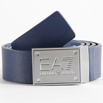 EA7 Emporio Armani - Ceinture Réversible 245524 Bleu Marine Bleu Clair