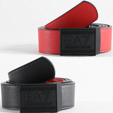 EA7 Emporio Armani - Ceinture Réversible 245376 Noir Rouge