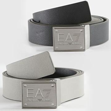 EA7 Emporio Armani - Ceinture Réversible 245524 Gris Foncé Gris Clair