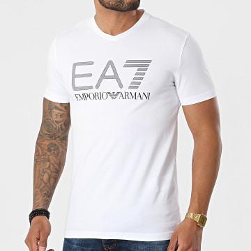 EA7 Emporio Armani - Tee Shirt Col V 3KPT57-PJ03Z Blanc