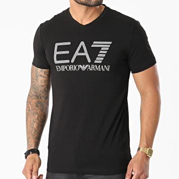 EA7 Emporio Armani - Tee Shirt Col V 3KPT57-PJ03Z Noir