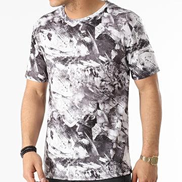 Frilivin - Tee Shirt 15232 Gris Blanc
