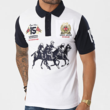 Geographical Norway - Polo Manches Courtes Koloclub Blanc