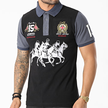 Geographical Norway - Polo Manches Courtes Koloclub Noir