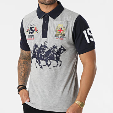 Geographical Norway - Polo Manches Courtes Koloclub Gris Chiné