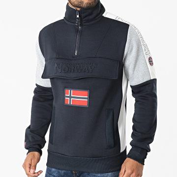 Geographical Norway - Sweat Col Zippé Fagostino Bleu Marine