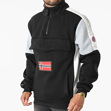 Geographical Norway - Sweat Col Zippé Fagostino Noir