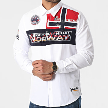 Geographical Norway - Chemise Manches Longues Zorarz Blanc