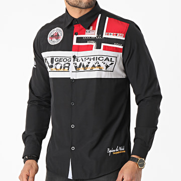 Geographical Norway - Chemise Manches Longues Zorarz Noir