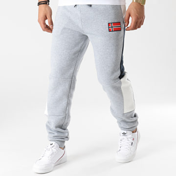 Geographical Norway - Pantalon Jogging Magostino Gris Chiné