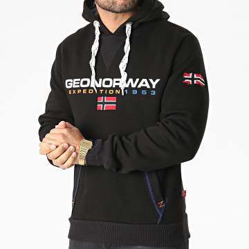 Geographical Norway - Sweat Capuche Golivier Noir