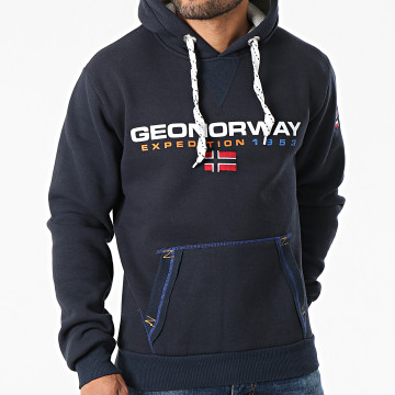 Geographical Norway - Sweat Capuche Golivier Bleu Marine
