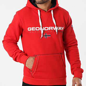 Geographical Norway - Sweat Capuche Golivier Rouge