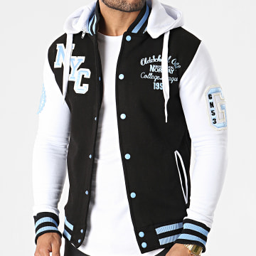 Geographical Norway - Veste Capuche All In Noir Blanc