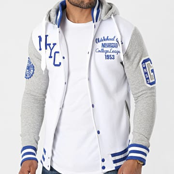 Geographical Norway - Veste Capuche All In Blanc Gris Chiné
