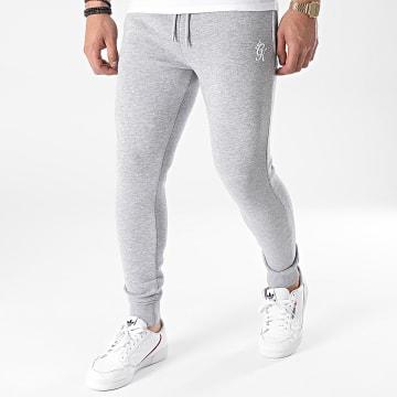 Gym King - Pantalon Jogging Basis Gris Chiné