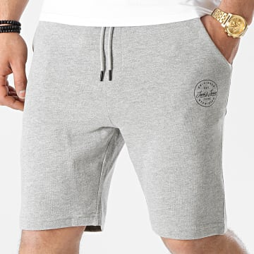 Jack And Jones - Short Jogging Shark Sweat Gris Chiné