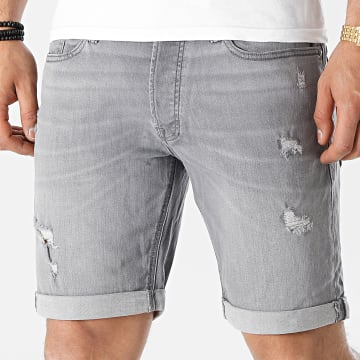 Jack And Jones - Short Jean Rick Original 008 Gris