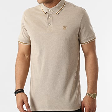 Selected - Polo Manches Courtes Twist Beige
