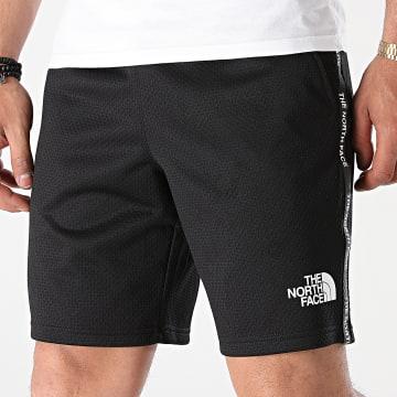 The North Face - Short Jogging A Bandes A5579 Noir Réfléchissant