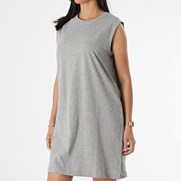 Vero Moda - Robe Femme Sans Manches Simply Easy Gris Chiné