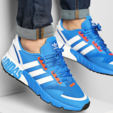 Adidas Originals - Baskets ZX 1K Boost H68720 Glow Blue Cloud White Solar Red