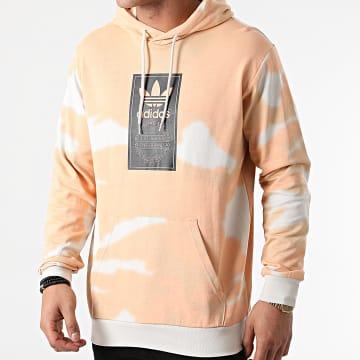 Adidas Originals - Sweat Capuche Tie Dye GN1880 Orange Gris