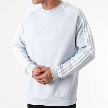 Adidas Originals - Sweat Crewneck A Bandes GN3480 Bleu Pastel