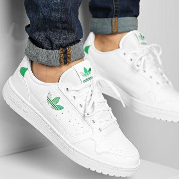 Adidas Originals - Baskets NY 90 H68074 Footwear White Green Vivid Green