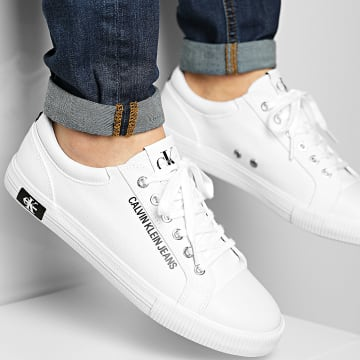 Calvin Klein - Baskets Vulcanized Sneaker Lace Up 00014 Bright White