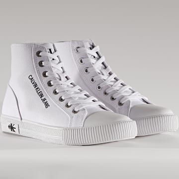 Calvin Klein - Baskets Montantes Femme Vulcanized Sneaker High Laceup 0049 Bright White