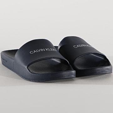 Calvin Klein - Claquettes Femme One Mold 0075 Bleu Marine