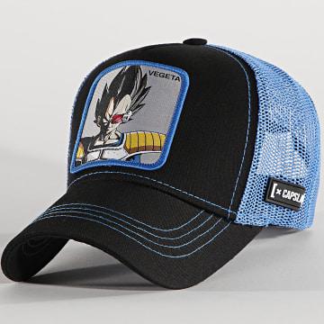 Capslab - Casquette Trucker Vegeta Noir Bleu