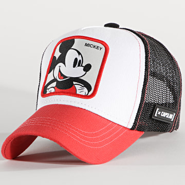 Capslab - Casquette Trucker Mickey Rouge Blanc Noir