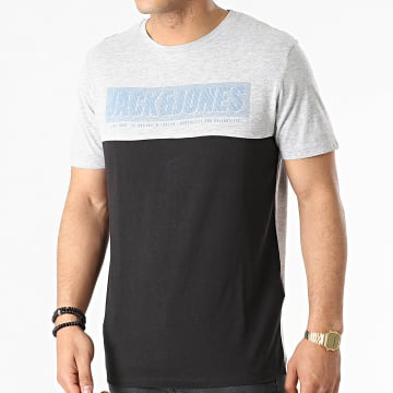 Jack And Jones - Tee Shirt Chimbal Gris Chiné Noir