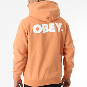 Obey - Sweat Capuche Obey Bold Orange Clair
