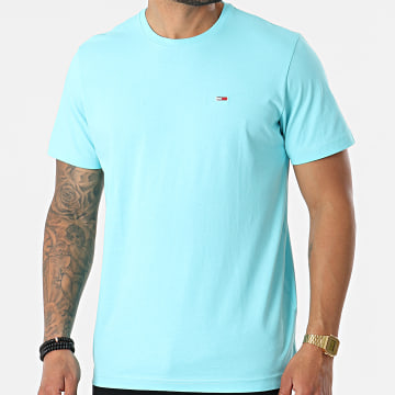 Tommy Jeans - Tee Shirt Tommy Classics 0101 Bleu Clair