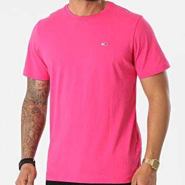Tommy Jeans - Tee Shirt Tommy Classics 0101 Rose Fushia